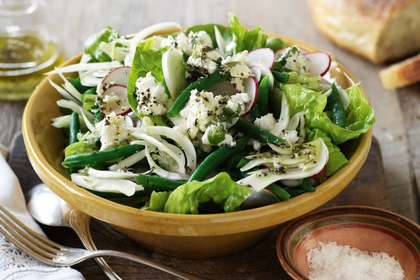 Green bean, fennel and radish salad with persian feta 1